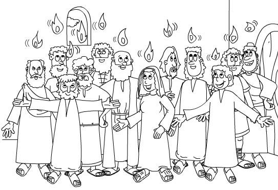 COLOREA TUS DIBUJOS: Dibujo del Espiritu Santo y los 12 Apostoles ...