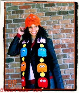 Pacman Scarf and Hat