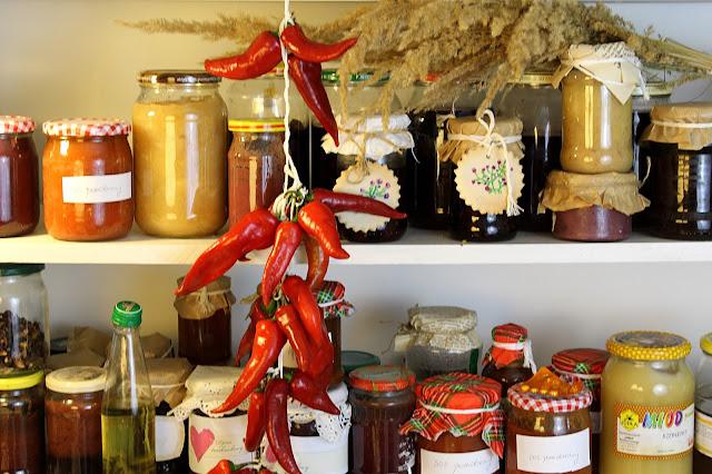 kuchnia, jesień, przetwory