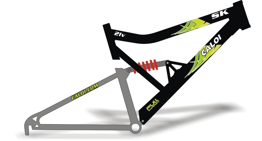 Stickers Design Adesivo bike Caloi SK Lim u00e3o