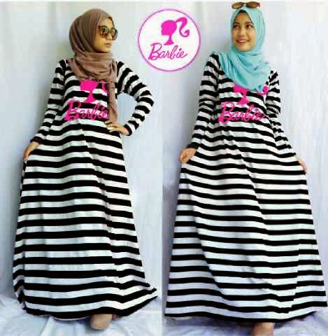 Hijab barbie Stripe