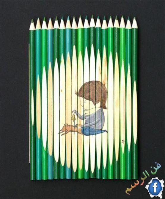 فن الرسم على الالوان الخشبية