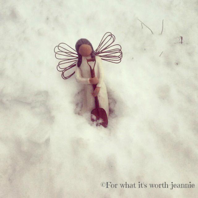 Angel, snow angel