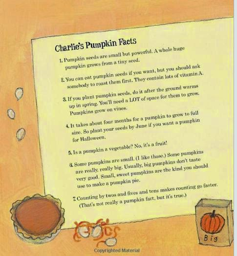 sample page #2 HOW MANY SEEDS IN A PUMPKIN from by Margaret McNamara