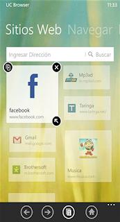 app UC Browser 3.2 navegador