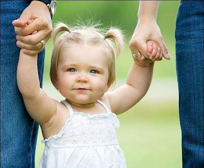 bebek, kız çocuğu, anne baba kız