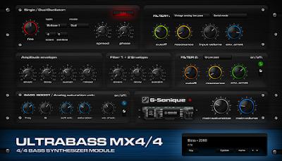 برامـج الهندسة الصـوتية والتوزيع الموسيقي G-Sonique Ultrabass MX4/4 VS