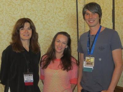 Carolyn Porco and Brian Cox