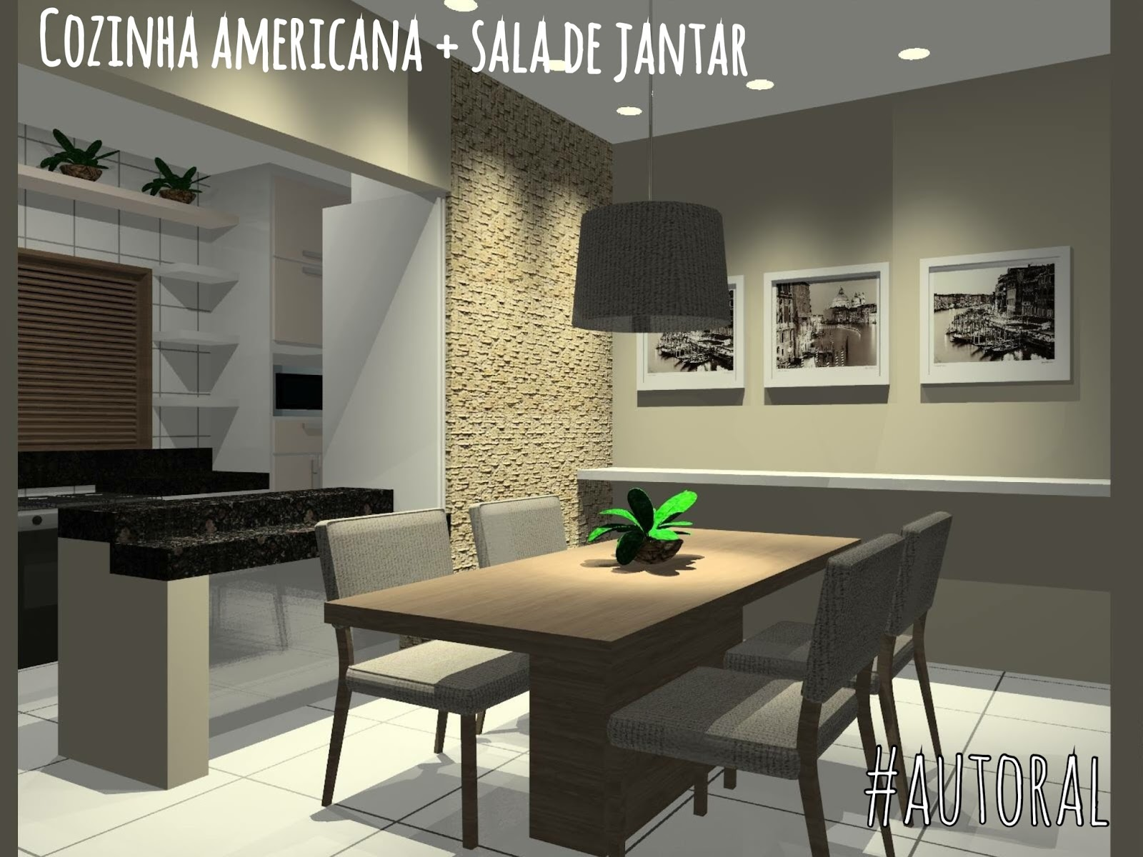 Bianca Tereza: A.022012 Cozinha americana   Sala de Jantar #27B318 1600 1200