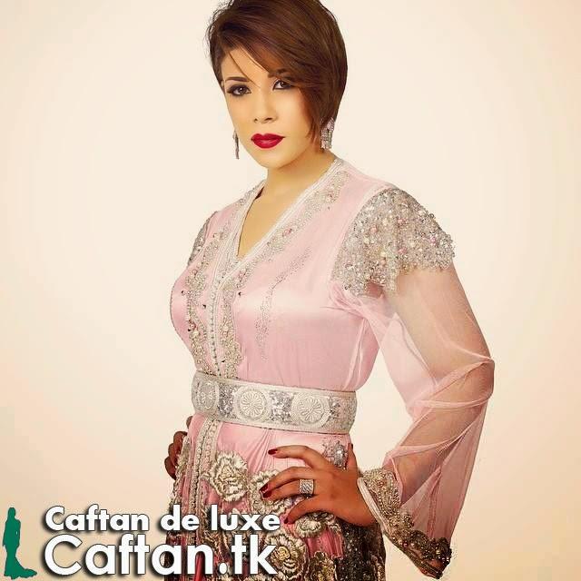 Caftan marocain rose clair fascinant