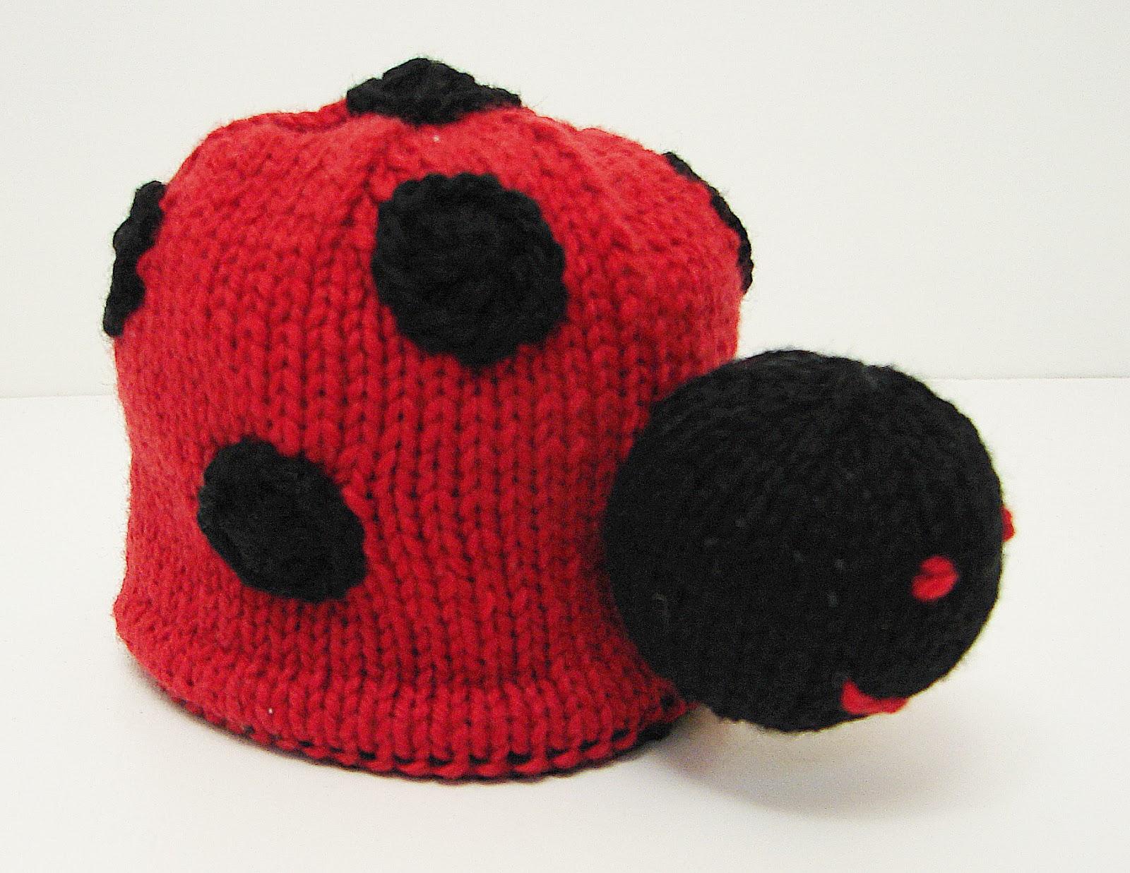 hand knit toy reversible bumblebee bee ladybug