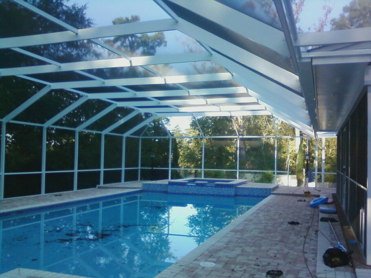 Pool enclosures usa pool enclosure project in tallahassee for Pool enclosures prices