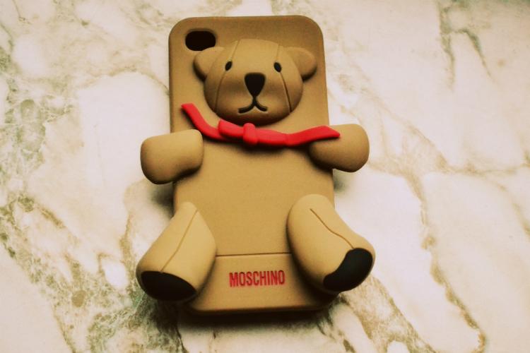 moschino bear brand label