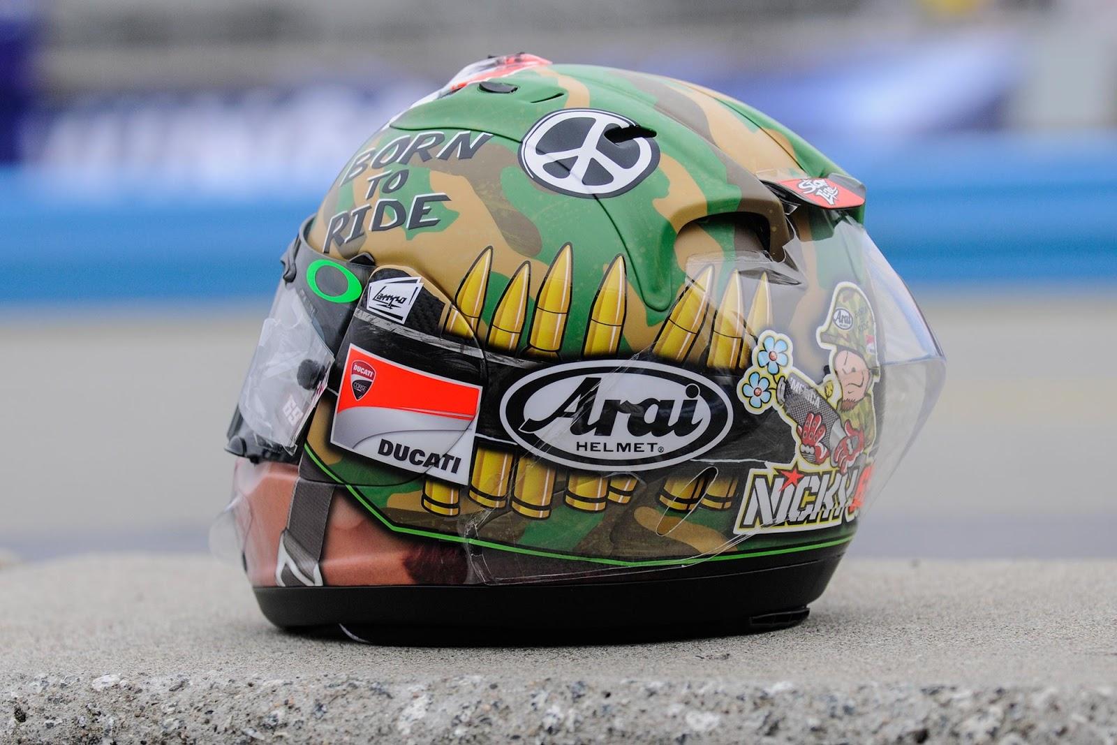 Champion Helmets: Nicky Hayden Laguna Seca Helmet 2013