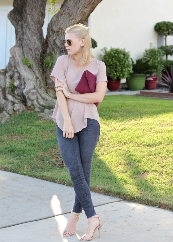 Azalea top, Target jeans, J.Crew clutch, outfit, look, style blogger