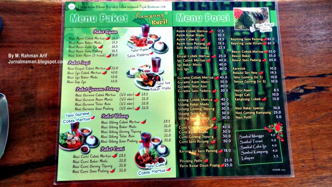 Makan Di Kampung Kecil Palembang Jurnal Maman