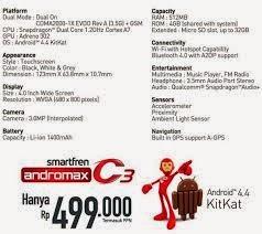 Detail Smartfren Andromax C3 KitKat