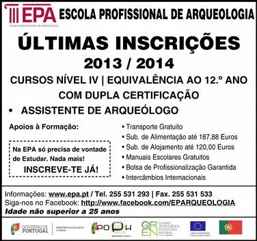 Curso profissional de assistente de arqueólogo nível 4 – Marco de Canaveses (equivalência ao 12º ano)