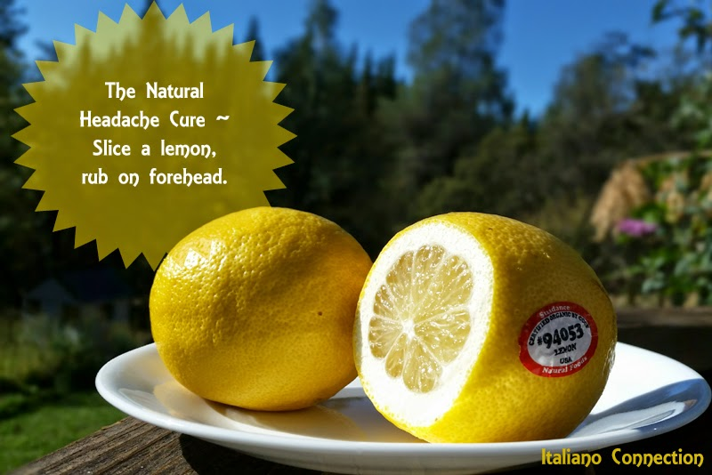 Natural Headche Cure - Lemon on the Forehead