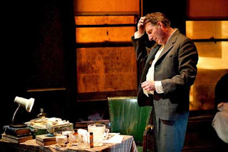 Adrian Dunbar stars as the doomed Irish playwright Brendan Behan in Brendan at the Chelsea.