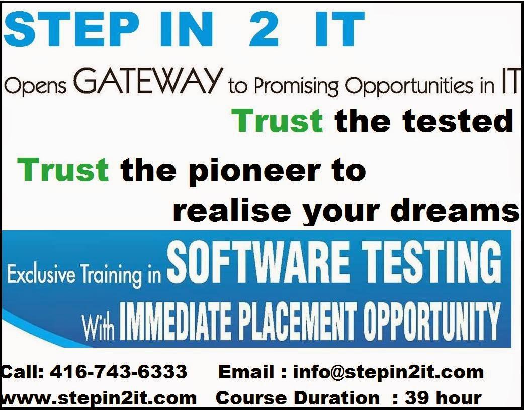 Qa training brampton manual testing quality center qtp automation software testing training toronto istqb jira qtp qa qc selenium with java training toronto baditri Gallery