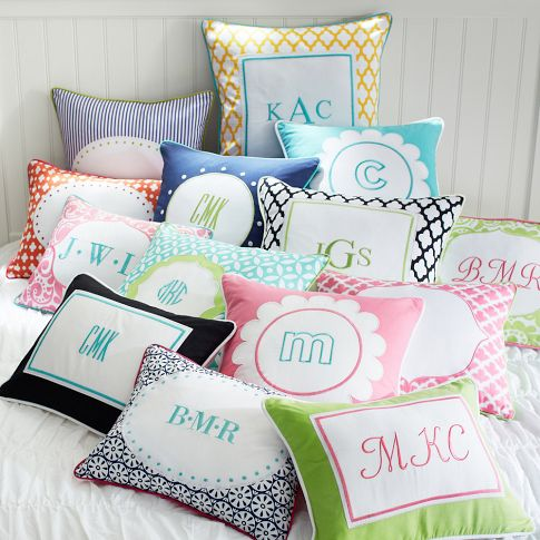 monogrammed bed pillows ideas about monogram pillows on
