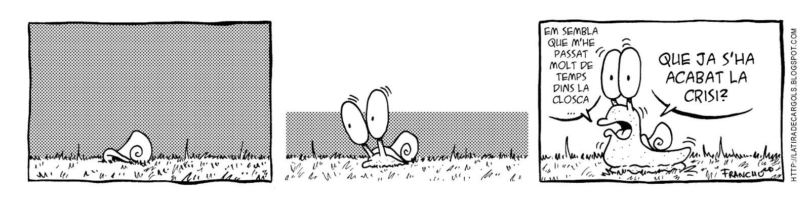 Tira comica 137 del webcomic Cargols del dibuixant Franchu de Barcelona