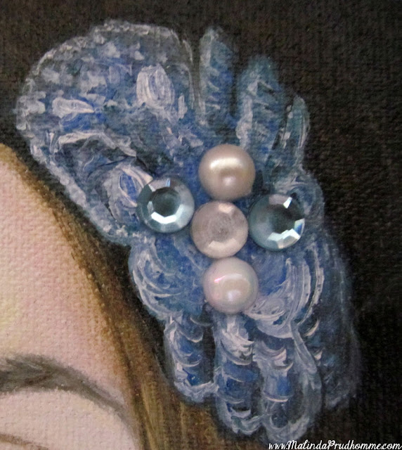 megan mccann, portrait artist, portrait painting, oil painting, beauty art, gems, pearls, blue eyes