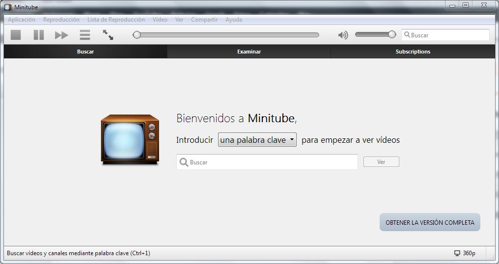 Minitube: Youtube desde tu escritorio ~ Technodyan