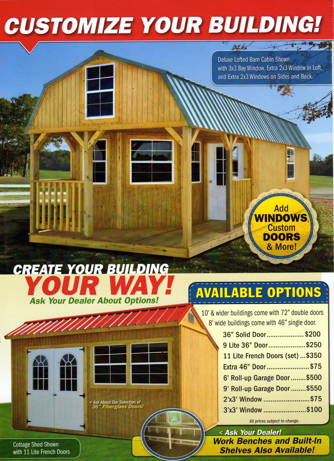 Floor plans prices for derksen portable buildings joy for Builder house prices