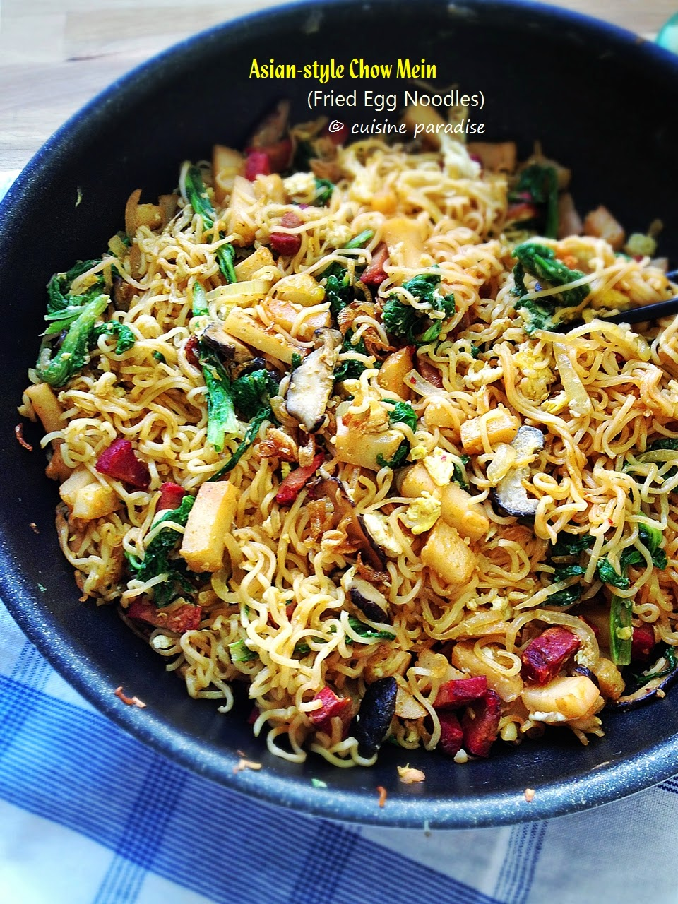 Cuisine paradise singapore food blog recipes reviews and travel asian style chow mein fried egg noodles forumfinder Gallery