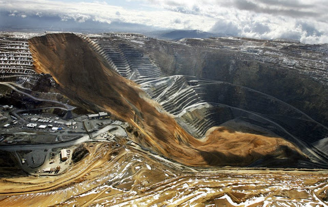 Mina de Bingham Canyon , também conhecida como a mina de cobre Kennecott