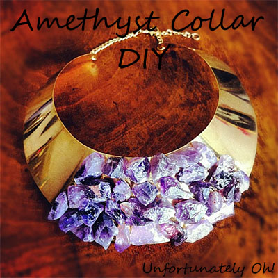amethyst collar DIY