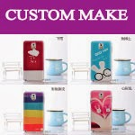 you can custom make your own handphone case and T-shirt