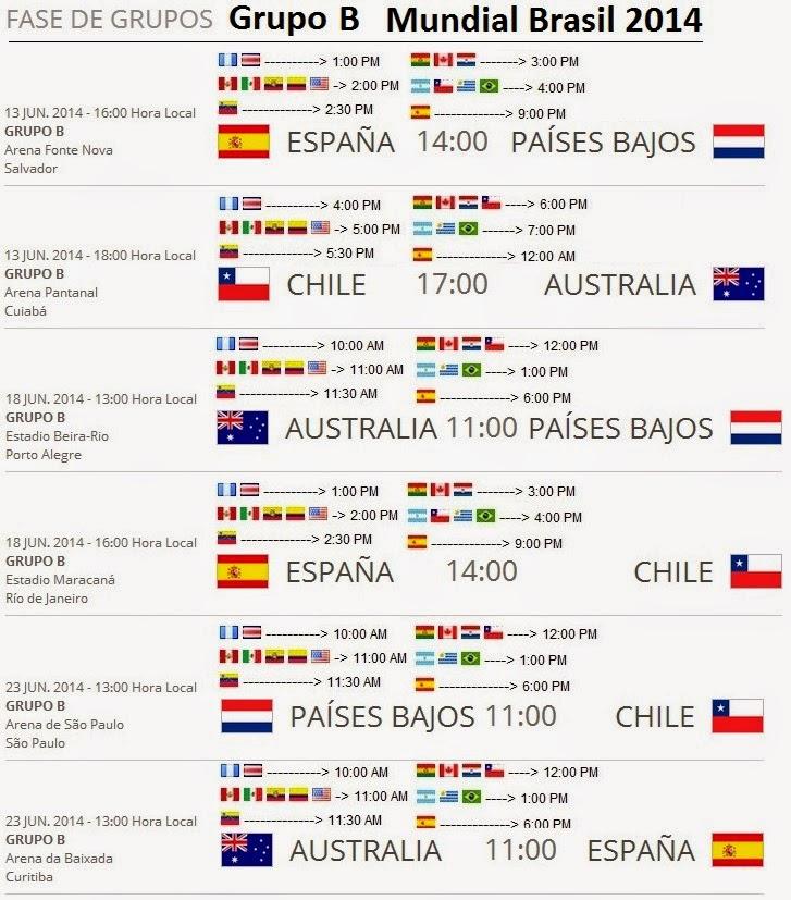 horarios de chile: