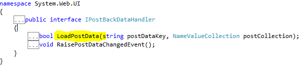 IPostBackDataHandler interface have LoadPostData method