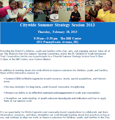Susie's Budget and Policy Corner: Citywide Summer Strategy Session, Feb. 28