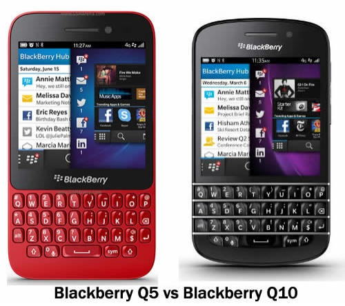 more compare between blackberry q10 and q5 some cases