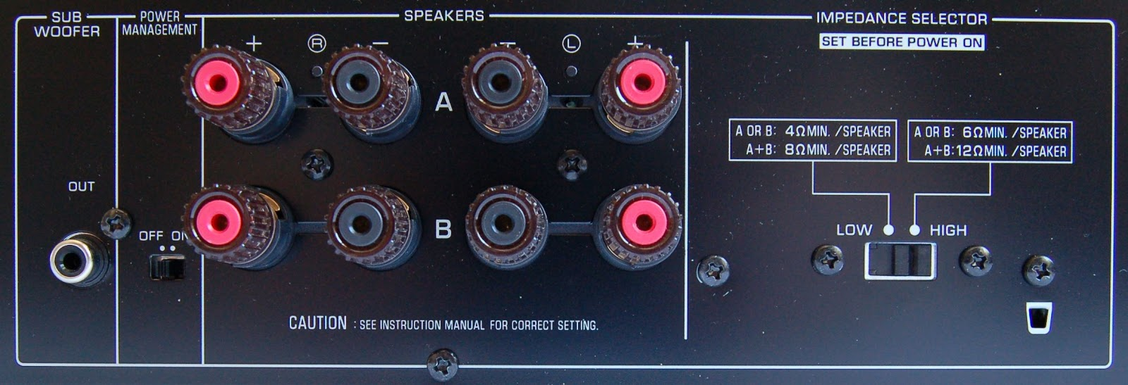 Yamaha Speaker Impedance Setting