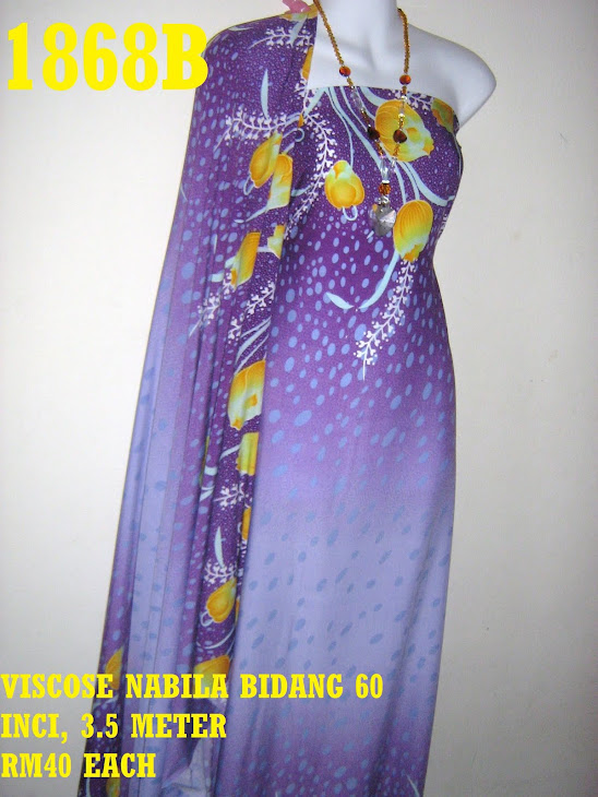 VN 1868B: VISCOSE NABILA BIDANG 60 INCI, 3.5 METER