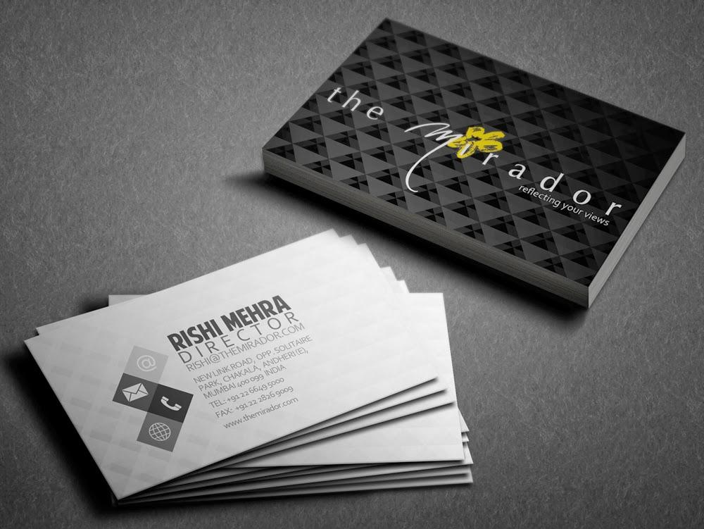 Kreative Quest: Mirador Hotel business card options