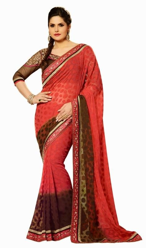 Zarine Khan Fancy Sarees Collection