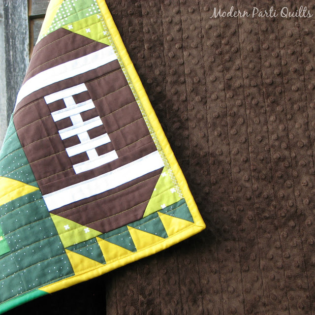 Modern Parti Quilts Green Bay Packers Quilt