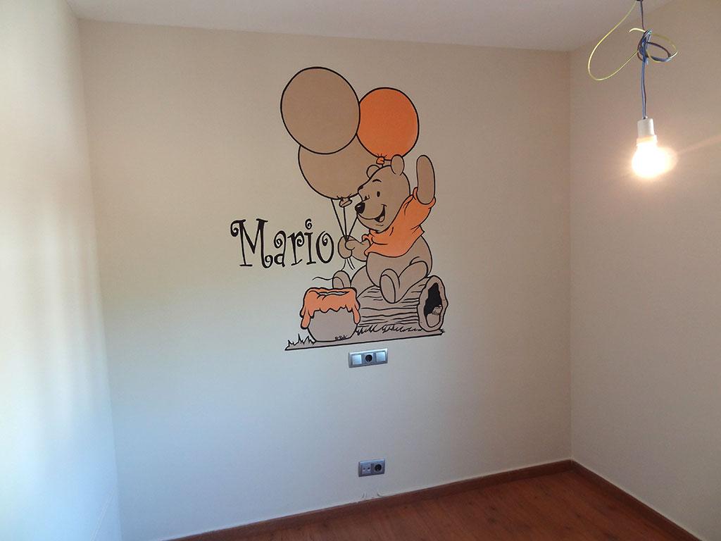 Berok graffiti mural profesional en barcelona murales - Dibujos paredes infantiles ...