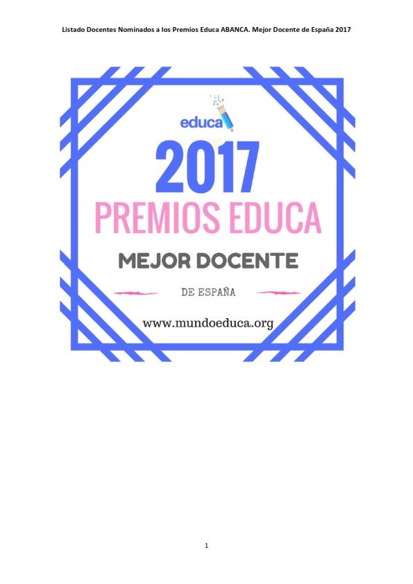 Nominación Premios Educa Abanca 2017