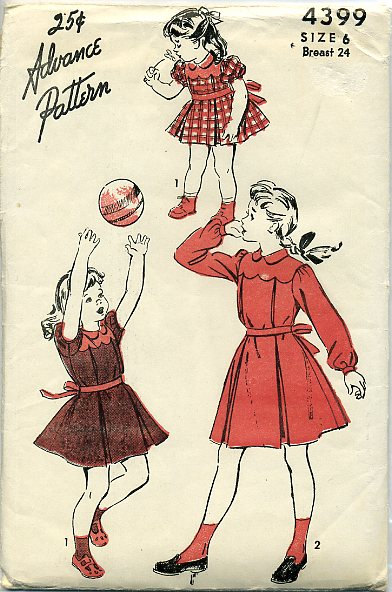 1940s scallop vintage dress pattern baby toddler little girl Just Peachy, Darling