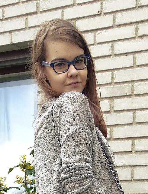 Back to school: stylizacja z spódnica w panterkę :*