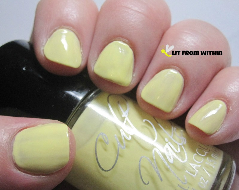 Cult Nails New Day, a sunny yellow creme