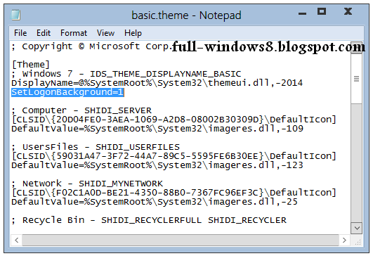 how to change windows 8 login wallpaper