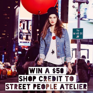 giveaway, freebie, free stuff, win free stuff, street people atelier, contest, sweepstakes